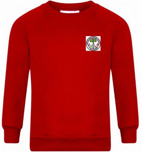 Northlands Junior School - Red Sweatshirt Jumper with School Logo | School Uniform Centres