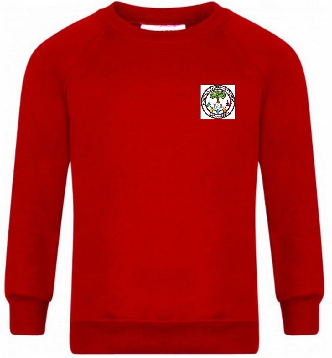 Northlands Junior School - Red Sweatshirt Jumper with School Logo RED / 38 School Uniform Centres Sweatshirts school-uniform-centres.myshopify.com Schoolwear Centres