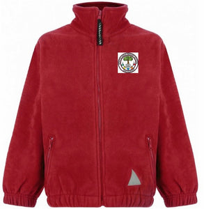Northlands Junior School - Red Fleece Jacket with School Logo | Schoolwear Centres