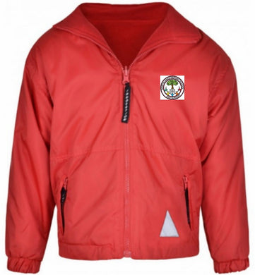 Northlands Junior School - Red Reversible Fleece Jacket with School Logo - Schoolwear Centres | School Uniform Centres