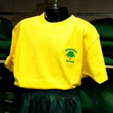 Greensted Infant School and Nursery - Gold T-Shirt with School Logo | Schoolwear Centres