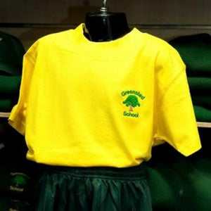 Greensted Infant School and Nursery - Gold T-Shirt with School Logo - Schoolwear Centres | School Uniform Centres