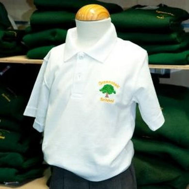 Greensted Infant School and Nursery - White Polo Shirt with School Logo | School Uniform Centres