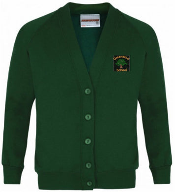 Greensted Infant School and Nursery - Bottle Sweatshirt Cardigan with School Logo - Schoolwear Centres