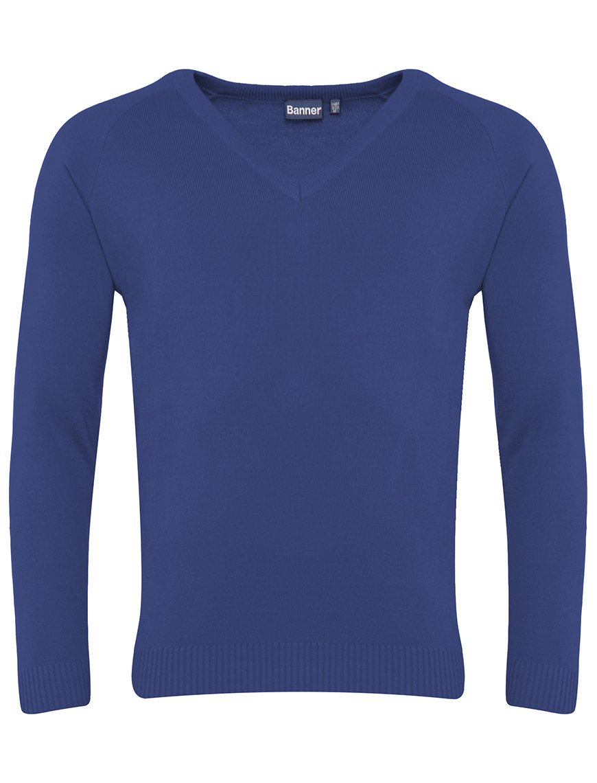 Banner Premier Lc V Neck Jumper ROYAL BLUE / 46 School Uniform Centres Knitwear Jumper school-uniform-centres.myshopify.com Schoolwear Centres