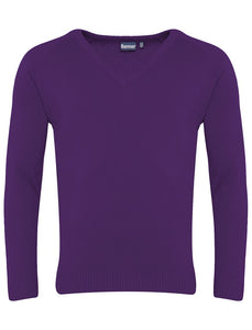 Banner Premier Lc V Neck Jumper PURPLE / 46 School Uniform Centres Knitwear Jumper school-uniform-centres.myshopify.com Schoolwear Centres