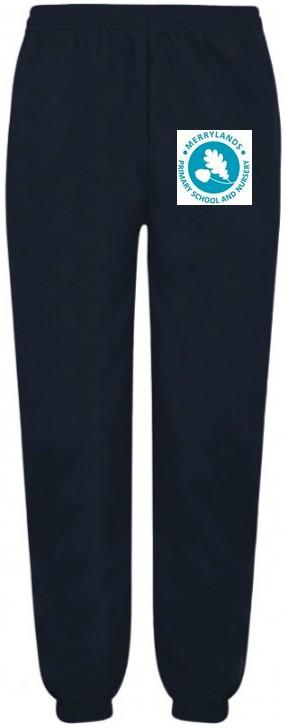 Navy Jogging Bottom with Merrylands School Logo | Basildon School Uniform Shop - Schoolwear Centres | School Uniform Centres