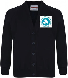 Merrylands Primary School - Navy Sweatshirt Cardigan with School Logo | Schoolwear Centres