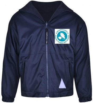 Merrylands Primary School - Navy Reversible Fleece Jacket with School Logo - Schoolwear Centres