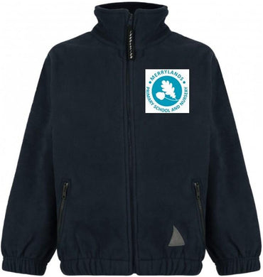 Merrylands Primary School - Navy Fleece Jacket with School Logo - Schoolwear Centres