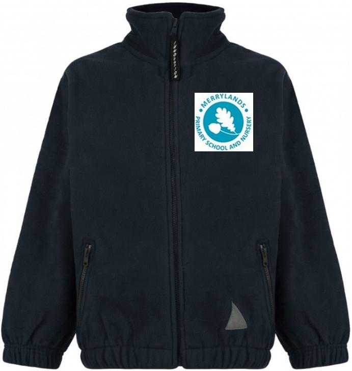 Merrylands Primary School - Navy Fleece Jacket with School Logo - Schoolwear Centres | School Uniform Centres