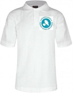 Merrylands Primary School - White Polo Shirt with School Logo | Schoolwear Centres