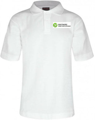 Whitmore Primary School and Nursery - White Polo Shirt with School Logo | School Uniform Centres