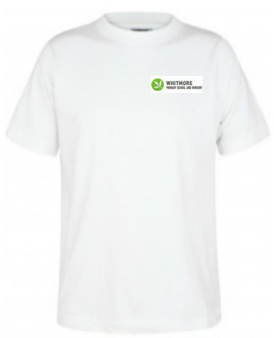 Whitmore Primary School and Nursery - White T-Shirt with School Logo WHITE / 2XL School Uniform Centres T-Shirts school-uniform-centres.myshopify.com Schoolwear Centres