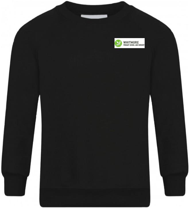 Whitmore Primary School and Nursery - Black R-neck Sweatshirt with School Logo - Schoolwear Centres | School Uniform Centres