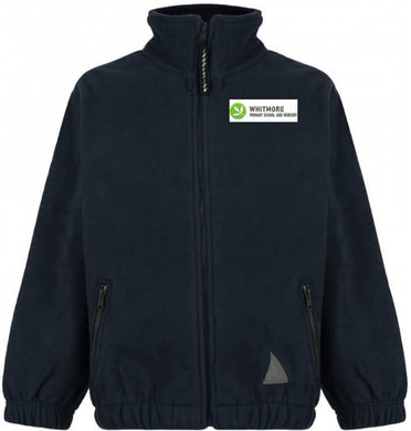Whitmore Primary School and Nursery - Black Fleece Jacket with School Logo | Schoolwear Centres
