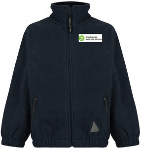 Whitmore Primary School and Nursery - Black Fleece Jacket with School Logo - Schoolwear Centres | School Uniform Centres