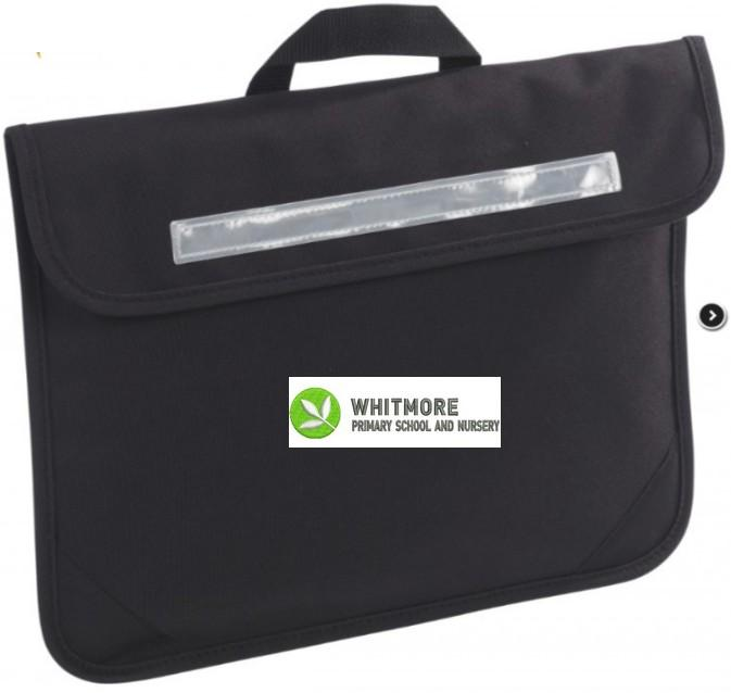 Whitmore Primary School and Nursery - Black School Bags with School Logo Black / Bookbag School Uniform Centres BOOK BAGS school-uniform-centres.myshopify.com Schoolwear Centres