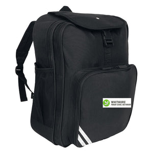 Whitmore Primary School and Nursery - Black School Bags with School Logo Black / Junior Backpack School Uniform Centres BOOK BAGS school-uniform-centres.myshopify.com Schoolwear Centres