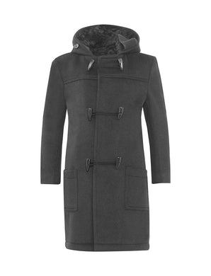 Duffle Coat | Grey | Navy - Schoolwear Centres | School Uniform Centres