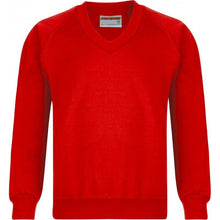 V/Neck Sweatshirts (12 Colours) RED / XS School Uniform Centres Sweatshirts school-uniform-centres.myshopify.com Schoolwear Centres