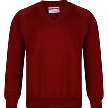 V/Neck Sweatshirts (12 Colours) LIGHT MAROON / 35 13-14 YRS School Uniform Centres Sweatshirts school-uniform-centres.myshopify.com Schoolwear Centres