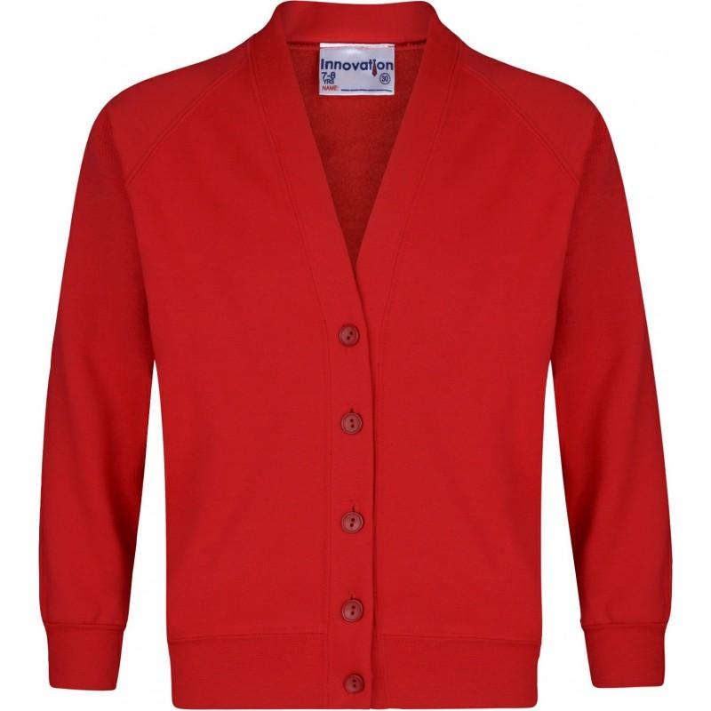 Sweatshirt Cardigans - available in 15 Colours - Schoolwear Centres | School Uniform Centres