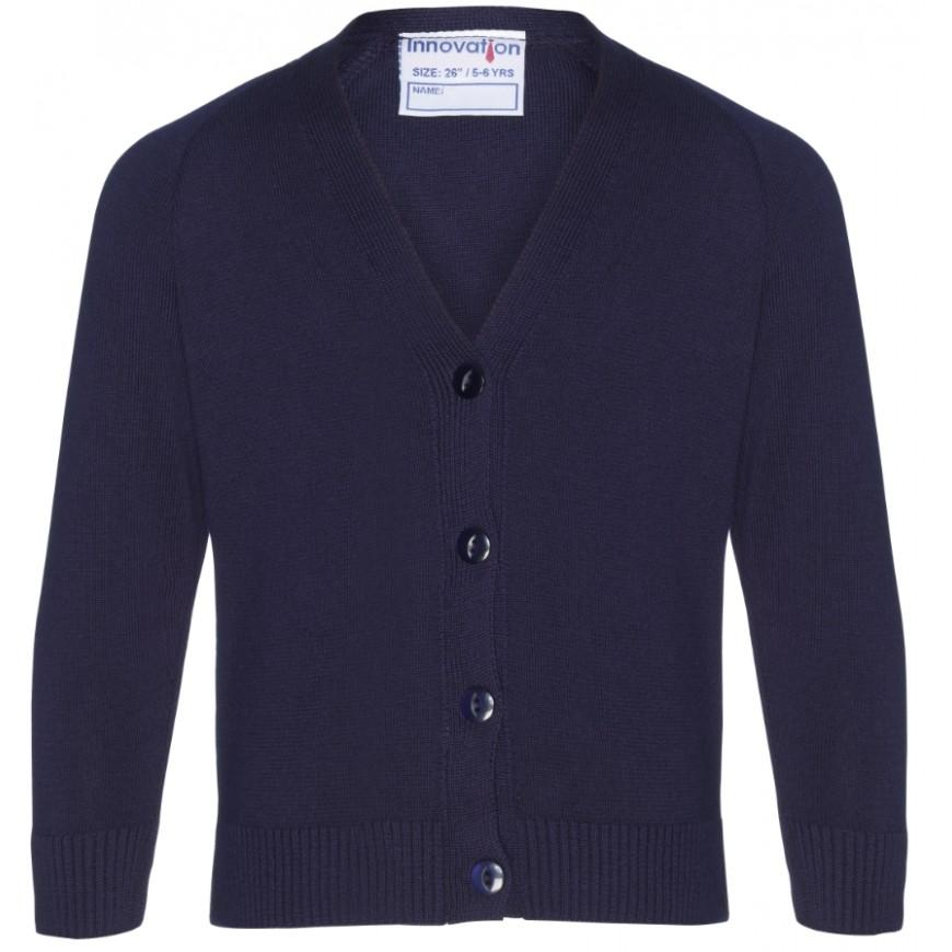 50/50 Knitted Cardigans NAVY / LARGE School Uniform Centres Knitwear Cardigan school-uniform-centres.myshopify.com Schoolwear Centres