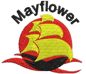 Mayflower School Badge  School Uniform Centres Accessories school-uniform-centres.myshopify.com Schoolwear Centres