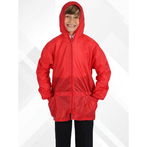 Waterproof Cagoules | Black | Royal | Navy | Red RED / EXTRA LARGE Schoolwear Centres Unisex Products school-uniform-centres.myshopify.com Schoolwear Centres