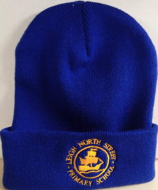 Leigh North Street Primary School - Woolly (Beanie) Hat with School Logo ROYAL / ONE SIZE Schoolwear Centres Hat school-uniform-centres.myshopify.com Schoolwear Centres
