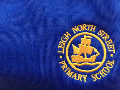 Leigh North Street Primary School - Royal Knitted Cardigans with School Logo ROYAL / 38 Schoolwear Centres Knitwear Cardigan school-uniform-centres.myshopify.com Schoolwear Centres