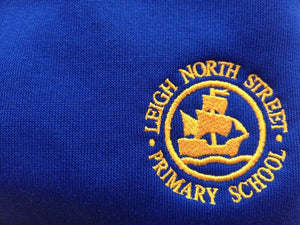 Leigh North Street Primary School - Royal Knitted Cardigans with School Logo - Schoolwear Centres | School Uniform Centres