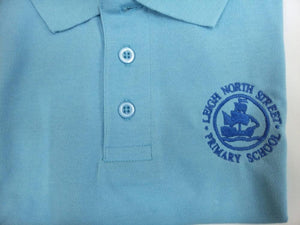 Leigh North Street Primary School - Sky Blue Polo-shirt with School Logo - Schoolwear Centres | School Uniform Centres