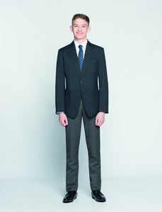 "Slimbridge (Slim-fit) Senior Boys Trouser | Black | Charcoal | Grey Grey / 40"" L Schoolwear Centres Slim Fit Trousers school-uniform-centres.myshopify.com Schoolwear Centres"