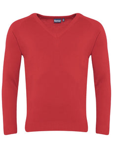 Banner Premier Lc V Neck Jumper RED / 46 School Uniform Centres Knitwear Jumper school-uniform-centres.myshopify.com Schoolwear Centres