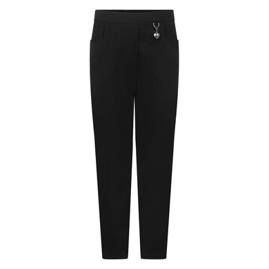 Girls - 2 Pocket Lycra Trousers BLACK / 112 School Uniform Centres Trousers school-uniform-centres.myshopify.com Schoolwear Centres