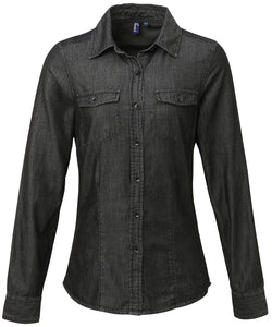 Women's jeans stitch denim shirt - Schoolwear Centres | School Uniform Centres