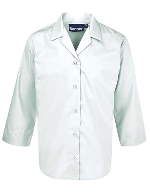 Single Pack - 3/4 Sleeve Revere Blouses - Schoolwear Centres | School Uniform Centres