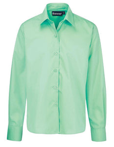 "Long Sleeve Blouse | GB3100 Green / 48"" School Uniform Centres Blouses school-uniform-centres.myshopify.com Schoolwear Centres"