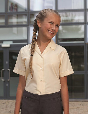 (Twin Packs) Short Sleeve Revere Blouses - Schoolwear Centres | School Uniform Centres