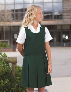 Banner - Tenby Box Pleat Pinafore | Black  | Navy Blue | Brown | Grey | Bottle  Schoolwear Centres Pinafore school-uniform-centres.myshopify.com Schoolwear Centres