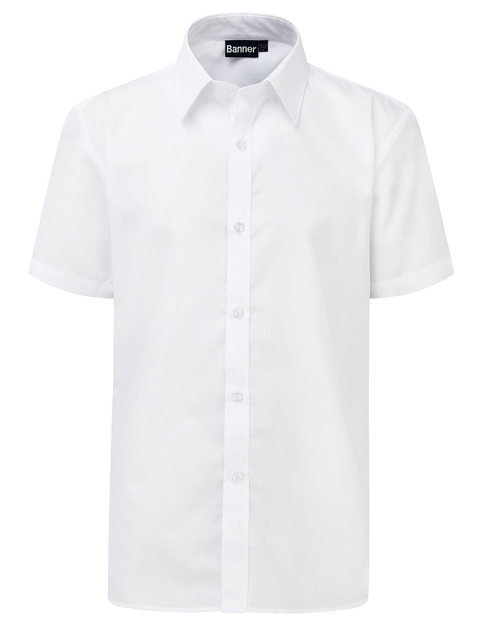Boys 2pk Slimfit (Short & Long Sleeve) Shirts WHITE /SS / 17H School Uniform Centres Shirts school-uniform-centres.myshopify.com Schoolwear Centres