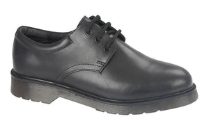 Roamers (B 071A) Black Leather Boys Shoe - Schoolwear Centres | School Uniform Centres
