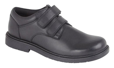 Roamers (B079A) Black Leather Boys Shoe - Schoolwear Centres | School Uniform Centres