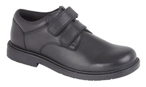 Roamers (B079A) Black Leather Boys Shoe Black / 2 Schoolwear Centres Shoes school-uniform-centres.myshopify.com Schoolwear Centres