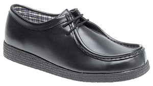 Route 21 Black Coated Action Leather Shoe B157A - Schoolwear Centres | School Uniform Centres