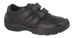 Roamers (B 678A) Black Leather (Boys) Shoe - Schoolwear Centres | School Uniform Centres