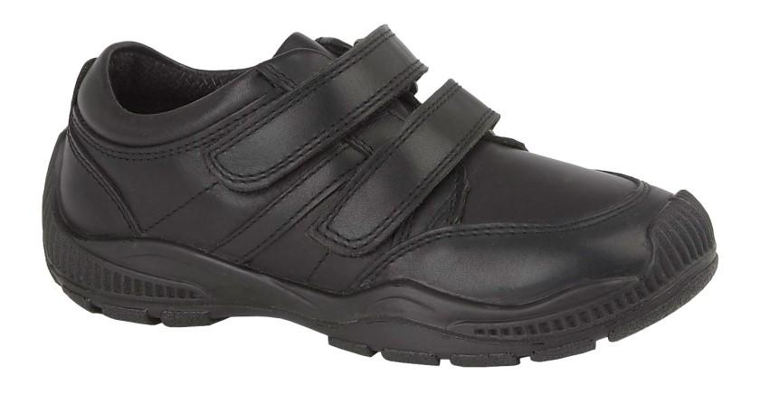 Roamers (B 678A) Black Leather (Boys) Shoe Black / 5 Schoolwear Centres Shoes school-uniform-centres.myshopify.com Schoolwear Centres