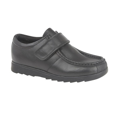 Roamers Black Leather (Boys) Shoe Black / 6 Schoolwear Centres Shoes school-uniform-centres.myshopify.com Schoolwear Centres